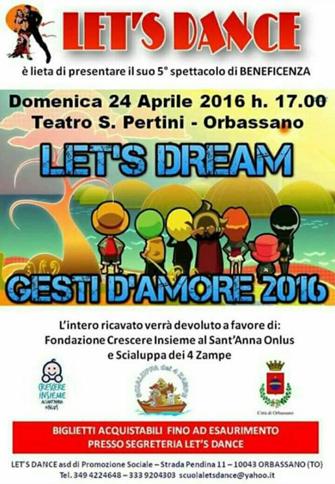 let's dream domenica 24 aprile 2016